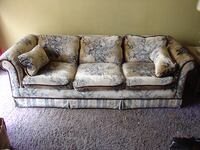 gray and brown floral 3-seat sofa SCRANTON