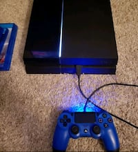 blue Sony PS4 console with blue controller Mesquite, 75150