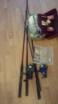 4 fishing rods and the boxes 75 for sll Port Coquitlam