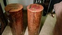 two brown wooden candle holders Huntington Beach, 92647