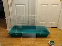 Cage and accessories for sale