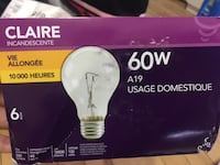 Claire incandescent 60w light bulb  5 for $10 Toronto, M2N 2Y2