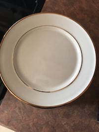 Gold rim dessert plates set of 18