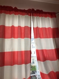 Curtains 3 panels new out of bag Frederick