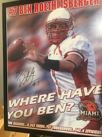 Signed Ben Roethlisberger Picture Pittsburgh, 15203