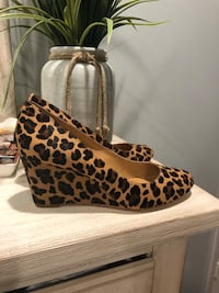 Jcrew leopard wedges Port Chester, 10573