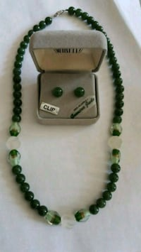 Genuine jade necklace and earings set Salem, 03079