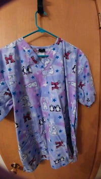 blue and pink floral button-up shirt Minneapolis, 55402