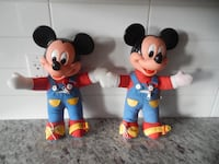 "(x2) *Vintage* 1989 Mickey Mouse ""Learn to Dress Dolls"" $10 each or $15 for the pair PU Morinville Morinville"