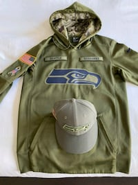 Seahawks salute the troops hoodie with matching hat