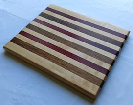 Maple, walnut, & paduk cutting board