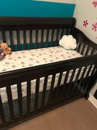 Brand new never used crib. Sold with out mattress.