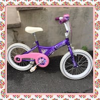 Princess Bicycle for girl , size 16 inch  with brand new  INNER Tube ready to use  Elizabeth, 07208