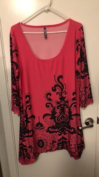 Pink and black women's long tunic size XL North Richland Hills, 76180