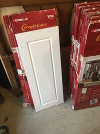 White Cabinet Doors with Hardware and Pulls ~ Self Closing Kitchener, N2E 0A6