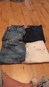 three blue, white, and black denim shorts Cedar Park, 78613