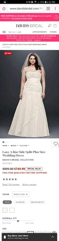 Wedding dress ( new with tags )