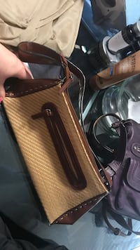 black and brown leather crossbody bag Guelph, N1E 7H6