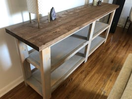 Brand New Locally Crafted Wood Console Buffet Stand Table Shelf
