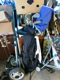 baby's blue and gray stroller Bastrop, 71220