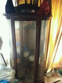 black wooden framed glass display cabinet Clarksville, 37042