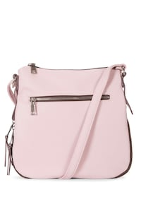 BARELY USED EXPANDABLE LEATHER PINK CROSSBODY BAG Stoney Creek, L8G 1B9