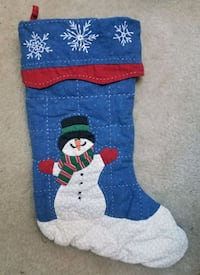 Snowman W/Scarf Quilted Christmas Stocking/New Gaithersburg