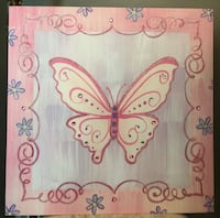 Butterfly wall hanging/canvas for nursery/girl's room Fort Myers, 33919