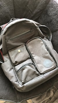 gray and black leather backpack Savannah, 31405