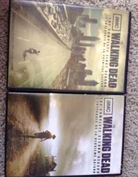 two Walking Dead DVD cases