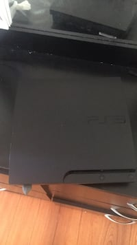 Black sony ps3 slim console Brampton, L6R 2L5
