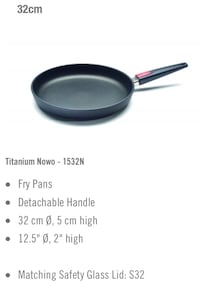 BRAND NEW WOLL frying pan 32cm WITH Lid, non-sticking feature, oil free cooking Montréal, H4K 1J4