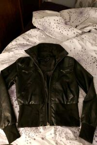 Black pleather jacket size L