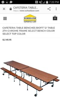 Large Folding Table & Chairs, Rollaway Table and Chairs, seats 12. San Antonio, 78250