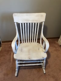 Distressed rocking chair