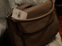 black and brown leather bag Irving, 75060