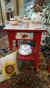 Shabby Country Rose Red Night Stands Coto de Caza, 92679
