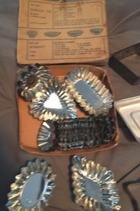 Antique Tartlet Tins & cookie cutters