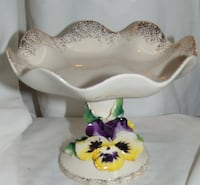 Vintage bonbon tray with pansies  Edmonton