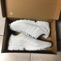 White Adidas ZX Flux Reflective stripes size 11
