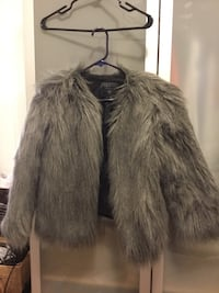 Guess Grey faux fur  size small  Vancouver, V5V 4J3