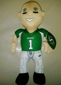 plush collector SASKATCHEWAN ROUGHRIDERS DOLL $20. Edmonton, T6X 1G7
