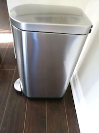 Simplehuman@ Slim Step on Trash Can with Liner Rim