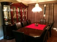 brown wooden dining table set Vaughan, L4H 1P8