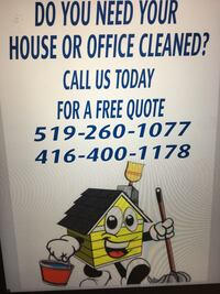 House office and window. Cleaning specials Cambridge