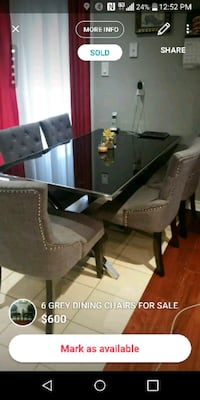 TABLE ONLY CHROME AND BLACK GLASS MUST GO Mississauga, L5L 4M6