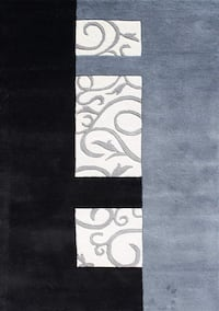 Rug - BRAND NEW (wrapped) black and Blue Rug Dublin, 94568