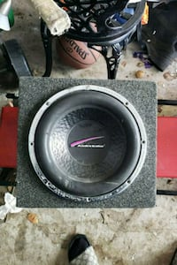 black and gray audio subwoofer speaker Richmond Hill, L4E 4N1