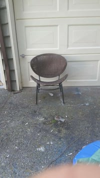 brown wicker chair