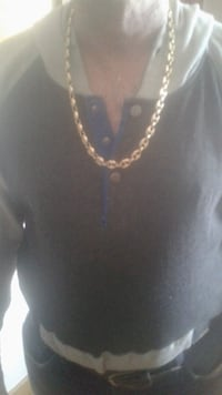 Mans Custom Made 14K Puffed Gucci Mariner Link Chain.Weighs 132 grams